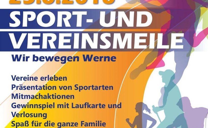 Flyer für die Sport- und Vereinsmeile am 25. Juni 2016